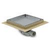 Tegelput, 200x200 mm, zijaansl 40 mm, rvs 304 put/tegeldeksel, vert/hor verstelb, cap 0,60 l/s