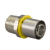 Uponor MLC-G gas perskoppeling buitendraad, 20 mm x ½""