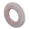 Uponor Velta Minitec PE-Xa leiding, 9,9 x 1,1 mm, 120 m rol, naturel wit met zwart/rode strepen