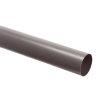 Pvc afvoerbuis met gladde einden, grijs, RAL 7037, SN2, l = 5 m, 110 x 2,2 mm