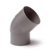 Hwa bocht 45°, pvc, inwendig lijm x verjongd spie, grijs, 60 mm