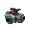 FIP pvc 3-weg kogelafsluiter met lijmmof, type LKDIV, epdm, L-boring, 25 mm