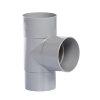 Hwa T-stuk 87°, pvc, 2x inwendig lijm, 1x verjongd spie, grijs, 60 mm