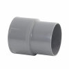 Reduzierstück Fallrohr/Kanalisation, PVC, Klebmuffe x Spitzende, grau, 80x75mm