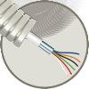 Snelflex voorbedrade flexibele buis met alarmkabel, 16 mm, 6x 0,22 mm², 100 m