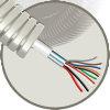 Snelflex voorbedrade flexibele buis met alarmkabel, 16 mm, 8x 0,22 mm² + 2x 0,75 mm², 100 m