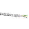 Snelflex voorbedrade flexibele buis 16mm, YR-mb grijs, 4x0,8mm,rol à 100m, signaalkabel,Dca-s3,d2,a3