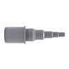 Airfit pp overgang buis x slangtule, recht, grijs, 32 x 25-8 mm slangtule
