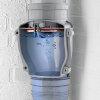 Airfit pp terugslagklep met vergrendeling, manchet x spie, voor verticale toepassing, grijs, 50 mm