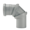Airfit pp verstelbare bocht 0 - 90°, manchet x spie, grijs, 32 mm