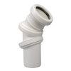 Airfit pp verstelbare bocht 0-90°, manchet x spie, wit, 50 mm