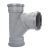 Airfit pp verstelbaar T-stuk 45-90°, 3x manchet, grijs, 110 mm