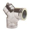 Dinak DW, rookgasafvoerbocht 87°, met inspectieluik, type 431, 130 mm