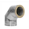Dinak DW, rookgasafvoerbocht 90°, type 433, 80 mm