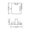 Eris closetrolhouder met klep, 133 x 69 x 138 mm, chroom