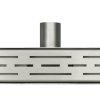 W-drain douchegoot, rvs, deuruitvoering, inclusief standaardrooster, l = 800 mm