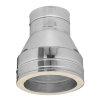 Dinak DW, rookgasafvoer reductiestuk, concentrisch, type 026, 80/100 mm