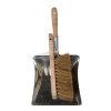Talen Tools stoffer en blik, staal/hout, kokos haren, blik 220 x 230 mm, borstel 5 x 29 cm