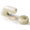 "BD 2-delige slangtule, nylon pa, wartelmoer, 90°, 16 mm x ¾"" + epdm afdichting"