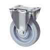 TENTE bokwiel, rvs, elastisch rubber, plaatbevestiging, 200 mm