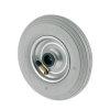 TENTE foamband met lijnprofiel, wielkern: geperst staalplaat, 200 mm, grijs