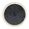 HeitkerBloc dichte putafdekking betonrand tbv filterput 400 klasse B, inclusief gietijzerendeksel