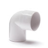 Nicoll pvc bocht 90°, inwendig x uitwendig lijm, wit, RAL 9010, KOMO, 32 mm
