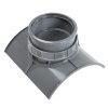 Pvc keilinlaat, 1x manchet, grijs, KOMO, SN8, 400 x 160 mm