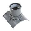 Pvc keilinlaat met zettingsmof, 1x manchet, grijs, KOMO, SN8, 200 x 125 mm