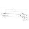 Ubbink Rolux 5H HR muurdoorvoer conc, 2 x 80 mm met plat instelbaar spruitstuk, 60/100 mm bi/bu pijp