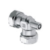 Bonfix Messing-Quetschwinkel 90°, verzinnt, mit Entlüfter, Kiwa/GASTEC, 2x QV, 15mm