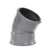 PVC-Segmentbogen 30°, 2x Muffe, grau, SN4, DN 315 mm
