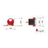 RM beregeningshaspel, Speedy-Rain 300 Garden, slangdiameter 32 mm, l = 90 m