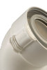 Ubbink Rolux UbiFit, bocht, concentrisch, 45°, Ø 80/125 mm, klemband, wit