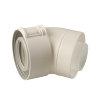 Ubbink Rolux UbiFit, bocht, concentrisch, 45°, Ø 80/125 mm, klemband, wit  detailimage_004 100x100