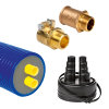 "Microflex installatiepakket DUO Primo, cv, 125 mm / 2x 32 x 2.9 mm, 6 bar, koppeling 1"", l = 20 m"