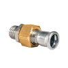 "Bonfix PRESS 3-delige koppeling, rvs, vlakdichtend, buitendraad x pers, 1¼"" x 35 mm, Kiwa"