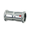 Bonfix PRESS koppeling, staalverzinkt, 2x pers, 18 x 18 mm