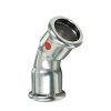 Bonfix PRESS bocht 45°, staalverzinkt, 2x pers, 12 x 12 mm