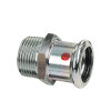 "Bonfix PRESS draadkoppeling, staalverzinkt, buitendraad x pers, 1"" x 28 mm"