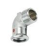 """Bonfix PRESS draadknie 90°, staalverzinkt, buitendraad x pers, 3/8"""" x 12 mm"""