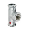 """Bonfix PRESS schroef T-stuk 90°, staalverzinkt, 2x pers / 1x binnendraad, 35 x 1"""" x 35 mm"""