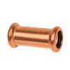 Bonfix PRESS overschuifkoppeling, roodkoper, 2x pers, 12 x 12 mm, Kiwa