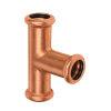 Bonfix PRESS verlengd T-stuk 90°, roodkoper, 3x pers, 15 x 15 x 15 mm, Kiwa
