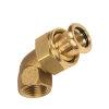 """Bonfix PRESS 3-delige koppeling, haaks, roodkoper, binnendraad x pers, ½"""" x 18 mm, Kiwa"""