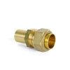 Solarflex koppeling, Easy-Tight, met lasuiteinde voor koper, set à 2 st, DN16 x 22 mm