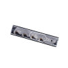 Promat afbreek haakmes, titanium, 3 breukplaatsen, 104,5 x 17,7 x 0,5 mm, verpakking à 10 stuks