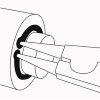 Promat borgringtang, gebogen, voor buitenringen, model A 01, voor Ø as 3-10 mm