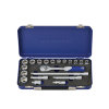 "Promat ratelsleutelset, 20-delig, cassette, aansluiting 3/8"", 30 tanden, sleutelmaat SW 8 - 22 mm"