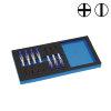 Promat precisieschroevendraaierset, 1/3 module 7-dlg.,sleuf en kruiskop